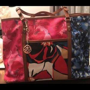 DKNY canvas handbag multi color
